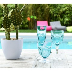 Set de 6 verres HAPPY aqua