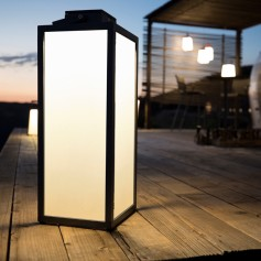 Lampe tradition solaire en alu ht 65cm Les Jardins