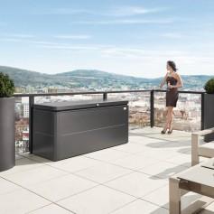 Coffre LoungeBox 160x70 gris foncé