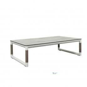 Table basse BASTINGAGE en aluminium avec accoudoirs Duratek