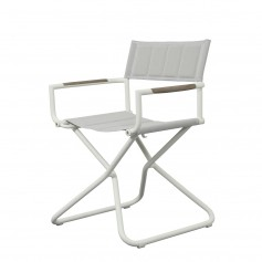Chaise BASTINGAGE en aluminium - accoudoirs Duratek, toile Ateja