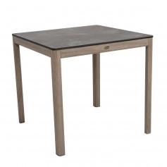 Table 80x80cm SKAAL en teck Duratek - plateau HPL