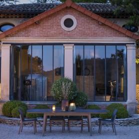 Stapelbarer Stuhl COPENHAGUE in Durateck - Sitz in Batyline Eden