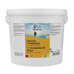Chlore multifonction 5kg en tablettes de 200g Chemoform