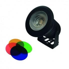 Spot LED 3 en 1 blanc chaud  + 4 couleurs