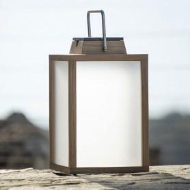 Lampe tradition solaire en teck ht 40cm Les Jardins TECK232