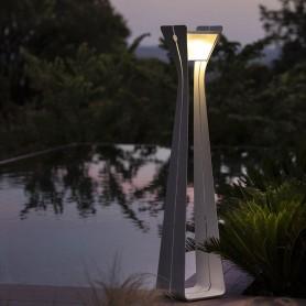 Lampe solaire OSMOZ ALUMINIUM blanc TINK423