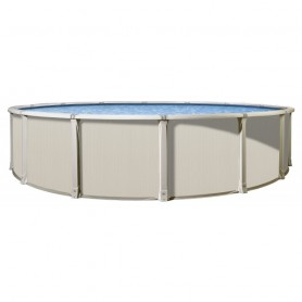 Piscine hors-sol en acier ronde Vogue Panama beige diam 3,66m x ht 1,32m