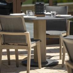 Table bistro ronde COPENHAGUE durateck plateau HPL ardoise