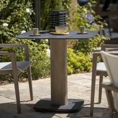 Table bistro carrée COPENHAGUE durateck plateau HPL ardoise