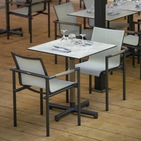 BASTINGAGE Stapelbarer Stuhl Aluminium Space Grey