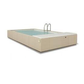Coussin bain de soleil Laghetto Divina en skaï nautique 93x114cm