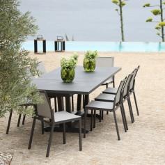 Table extensible AMAKA 8/10 places 162-244cm plateau céramique