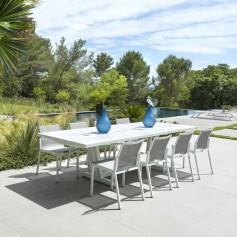 Table extensible AMAKA 10/12 places 200-300cm plateau latté