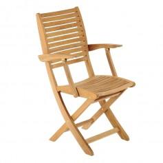 Kit accoudoirs pour chaise pliante sillage en teck